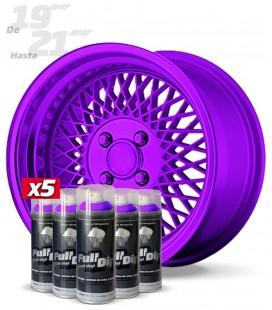 Pack 5 Sprays de 400ml Color VIOLETA METALIZADO