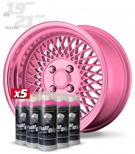 Pack 5 Sprays de 400ml Color ROSA METALIZADO