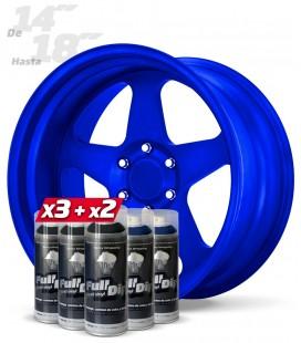 Pack 3 Sprays NEGRO + 2 Sprays AZUL ELÉCTRICO