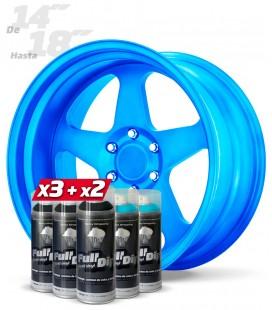 Pack 3 Sprays NEGRO + 2 Sprays AZUL DULCE