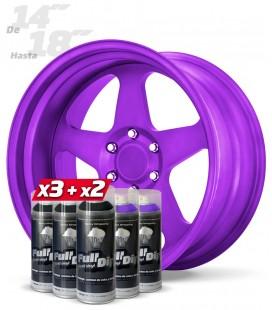 Pack 3 Sprays NEGRO + 2 Sprays MORADO