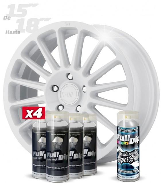 Pack 4 Sprays de 400ml Color BLANCO + 1 Spray BRILLO