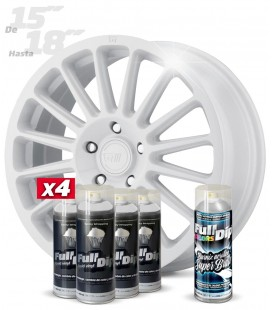 Pack 4 Sprays de 400ml Color BLANCO + 1 Spray BRILLO