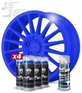 Pack 4 Sprays de 400ml Color AZUL OSCURO + 1 Spray BRILLO