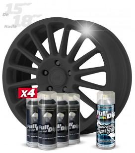 Pack 4 Sprays de 400ml Color GUN METAL + 1 Spray BRILLO
