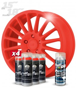 Pack 4 Sprays de 400ml Color ROJO + 1 Spray BRILLO