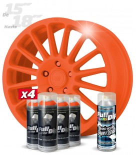 Pack 4 Sprays de 400ml Color NARANJA + 1 Spray BRILLO