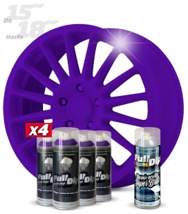Pack 4 Sprays de 400ml Color VIOLETA + 1 Spray BRILLO