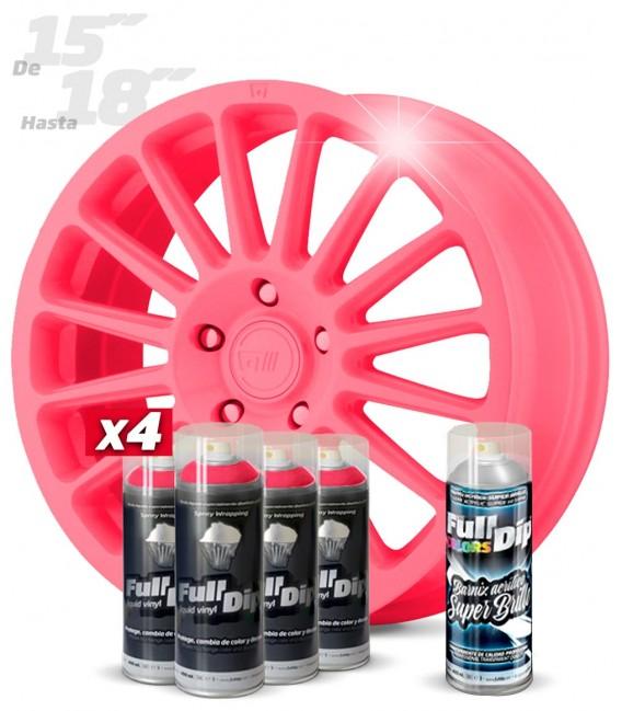 Pack 4 Sprays de 400ml Color ROSA CHICLE + 1 Spray BRILLO