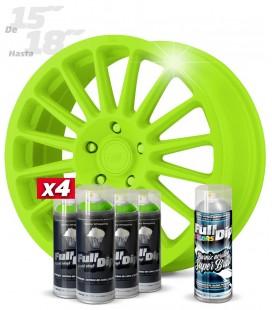 Pack 4 Sprays de 400ml Color VERDE LIMA + 1 Spray BRILLO