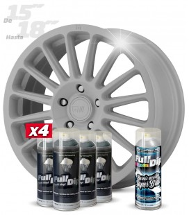 Pack 4 Sprays de 400ml Color NARDO GREY + 1 Spray BRILLO