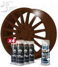 Pack 4 Sprays de 400ml Color MARRÓN MILITAR + 1 Spray BRILLO