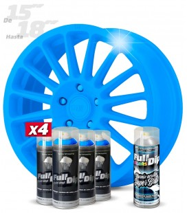 Pack 4 Sprays de 400ml Color AZUL KINGSLEY + 1 Spray BRILLO