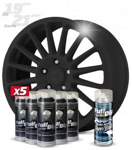 Pack 5 Sprays de 400ml Color NEGRO + 1 Spray BRILLO