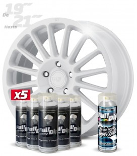 Pack 5 Sprays de 400ml Color BLANCO + 1 Spray BRILLO