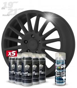 Pack 5 Sprays de 400ml Color GUN METAL + 1 Spray BRILLO