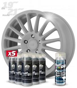 Pack 5 Sprays de 400ml Color NARDO GREY + 1 Spray BRILLO