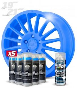 Pack 5 Sprays de 400ml Color AZUL LUMINOSO + 1 Spray BRILLO