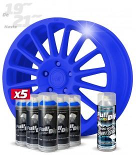 Pack 5 Sprays de 400ml Color AZUL + 1 Spray BRILLO