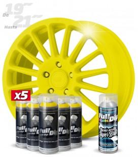 Pack 5 Sprays de 400ml Color AMARILLO + 1 Spray BRILLO