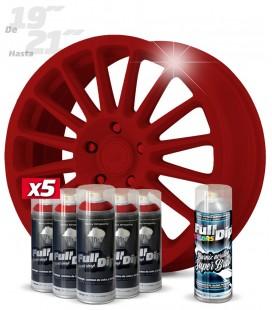 Pack 5 Sprays de 400ml Color ROJO CARMIN + 1 Spray BRILLO