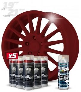 Pack 5 Sprays de 400ml Color ROJO CEREZA + 1 Spray BRILLO