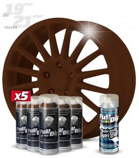 Pack 5 Sprays de 400ml Color MARRON MILITAR 1 Spray BRILLO