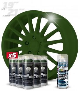 Pack 5 Sprays de 400ml Color VERDE MILITAR + 1 Spray BRILLO
