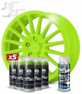 Pack 5 Sprays de 400ml Color VERDE LIMA + 1 Spray BRILLO
