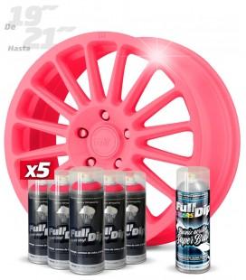 Pack 5 Sprays de 400ml Color ROSA + 1 Spray BRILLO
