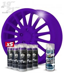 Pack 5 Sprays de 400ml Color VIOLETA + 1 Spray BRILLO