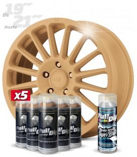 Pack 5 Sprays de 400ml Color BEIGE MILITAR + 1 Spray BRILLO