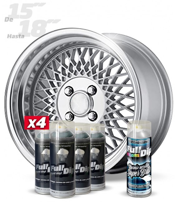 Pack 4 Sprays de 400ml Color ALUMINIO METALIZADO + 1 Spray BRILLO