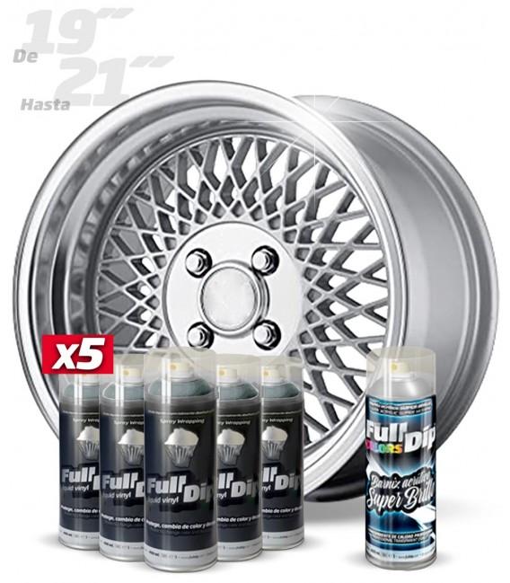 Pack 5 Sprays de 400ml Color ALUMINIO METALIZADO + 1 Spray BRILLO