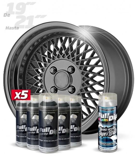 Pack 5 Sprays de 400ml Color ANTRACITA METALIZADO + 1 Spray BRILLO