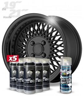 Pack 5 Sprays de 400ml Color HYPERBLACK METALLIC + 1 Spray BRILLO