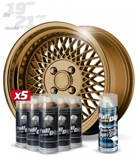 Pack 5 Sprays de 400ml Color BRONCE METALIZADO + 1 Spray BRILLO