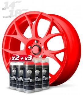 Pack 3 Sprays ROJO Flúor + 2 Sprays BLANCO Base