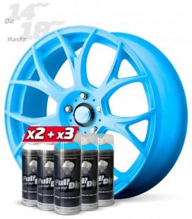 Pack 3 Sprays AZUL Flúor + 2 Sprays BLANCO Base