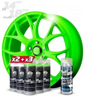 Pack 3 Sprays VERDE FLÚOR + 2 BLANCO + 1 BRILLO