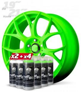 Pack 4 Sprays VERDE Flúor + 2 Sprays BLANCO Base