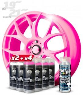 Pack 4 Sprays ROSA Flúor + 2 Sprays BLANCO Base