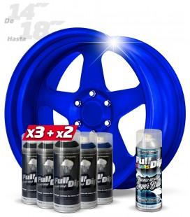 Pack 3 Sprays NEGRO + 2 AZUL ELECTRICO + 1 BRILLO