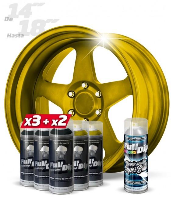 Pack 3 Sprays BLANCO + 2 DORADO SOLAR + 1 BRILLO