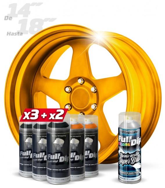 Pack 3 Sprays NEGRO + 2 NARANJA CANDY + 1 BRILLO