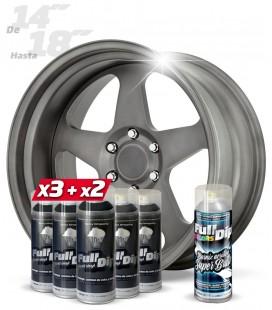 Pack 3 Sprays NEGRO + 2 ANTRACITA CANDY + 1 BRILLO