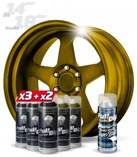 Pack 3 Sprays NEGRO + 2 DIAMOND GOLD + 1 BRILLO