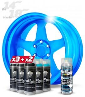Pack 3 Sprays NEGRO + 2 AZUL DULCE + 1 BRILLO