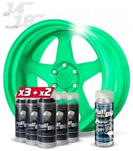 Pack 3 Sprays NEGRO + 2 CANDY VERDE ZOMBIE + 1 BRILLO