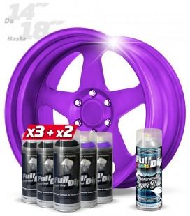 Pack 3 Sprays NEGRO + 2 MORADO + 1 BRILLO